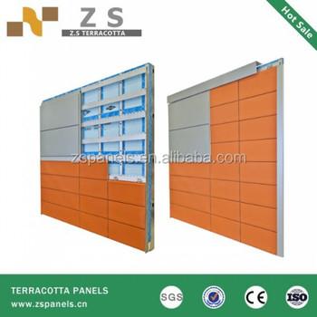 material de construcción fachada terracota panel de la pared