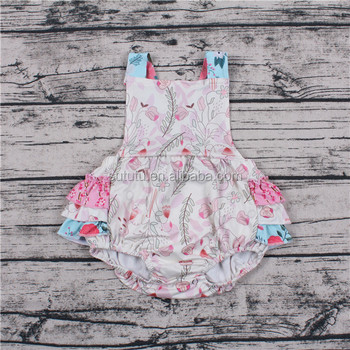Sue Lucky wholesale newborn baby clothes cute flower wholesale used baby clothes baby romper