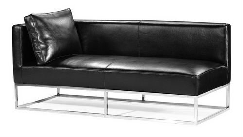 Steel Frame Sofa With Leather Upholstery