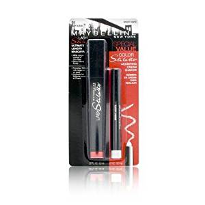 ce8e68991c0 Get Quotations · Maybelline Lash Stiletto Ultimate Length Mascara Special  Value 01 Very Black Mascara + Bright Ligths Accenting