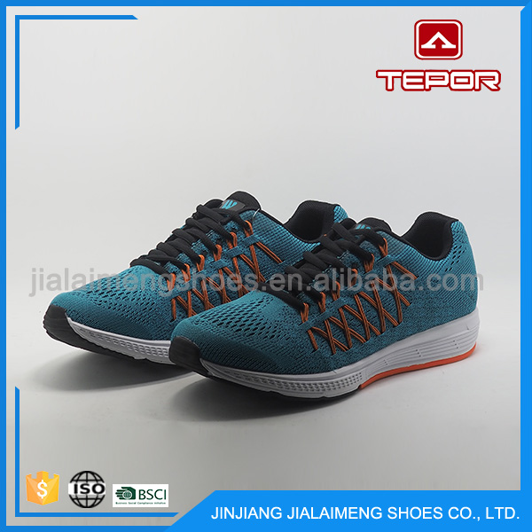 Super hot design lightweight knitting oem trail running shoes