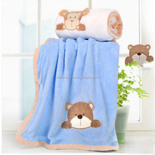 wholesale coral fleece cloak soft thick fleece baby blanket