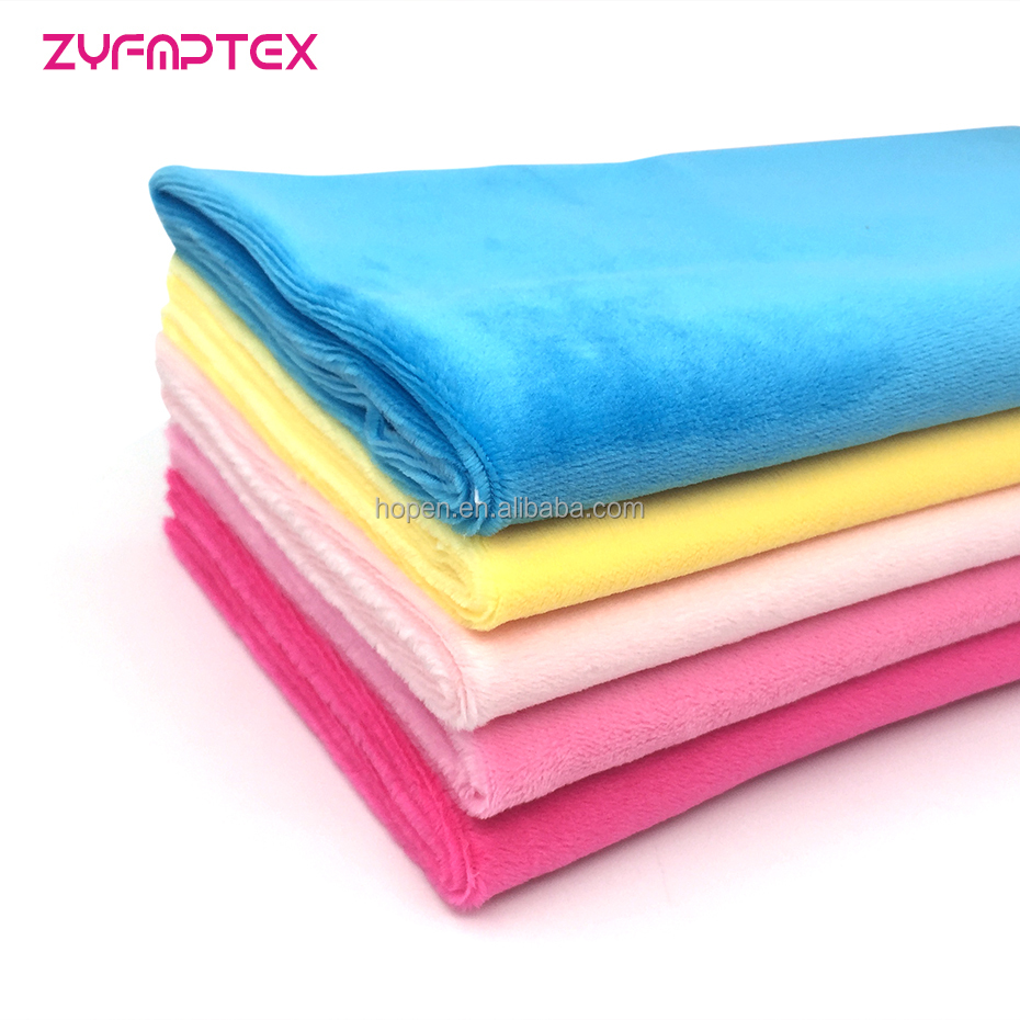 Harmless&reach Test Passed Soft Plush Fabric For Making Plush Toys Home Textile sofa fabric