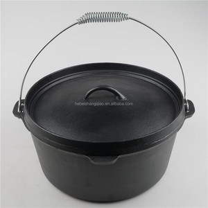Pre-seasoned Cast Iron Dutch Oven Camping Cookware