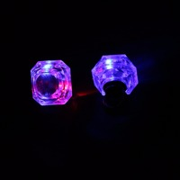party red finger glowing flashing diamond led ring light