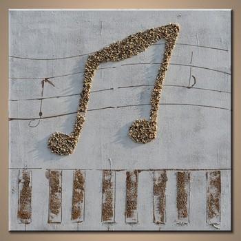 Handmade Oil Painting Beautiful Musical Notes Wall Art - Buy Musical ...