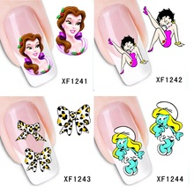 20 styles Nails Stickers Nail Art Water Transfer DIY Decals Beauty Designer Pegatinas Capsule Ongle French