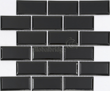Black color Decorative Kitchen Bathroom Designs Of Ceramic Mosaic Wall Tiles