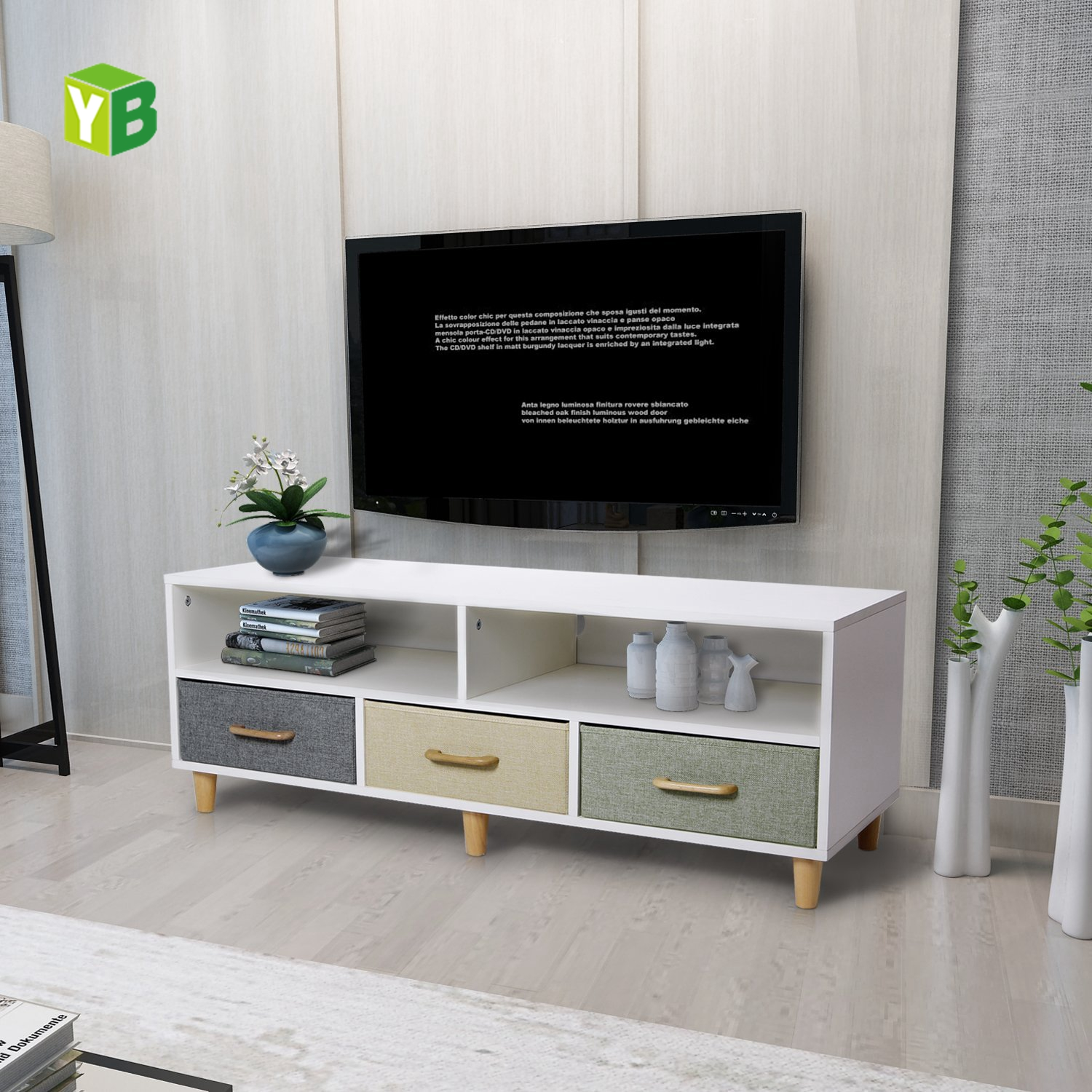 Picture of: Yibang Cheap Beautiful Wood Tv Stand Furniture Modern Small China New Tv Wooden Cabinet Buy Wood Tv Stand Beautiful Tv Stand Wood Tv Stand Product On Alibaba Com