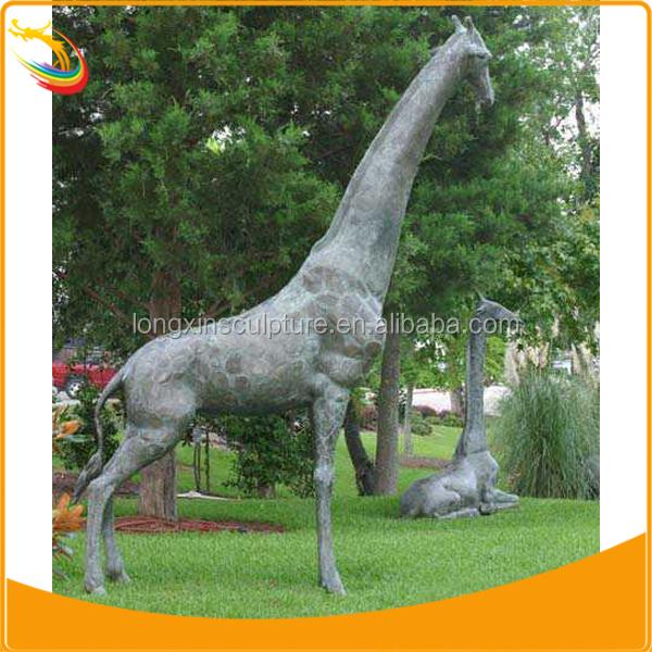 Life Size Giraffe Statues Large Metal Garden Sculpture Brass Giraffe  Sculptures
