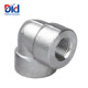 Metric Pipe Fitting 2 Black Steel Grooved Galvanized Tube Water Size Threaded Elbow 2000lbs