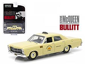"1967 Ford Custom ""Sunshine Cabs"" Taxi Steve McQueen Bullitt (1968 ) Hollywood Series 9 1/64 Model Car by Greenlight"
