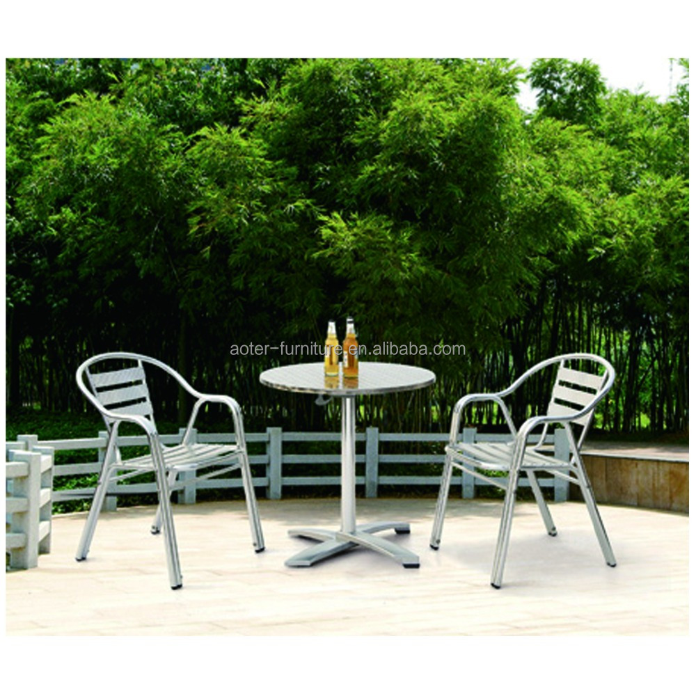 China Foshan Lecong aluminum cheap folding bistro table and chairs