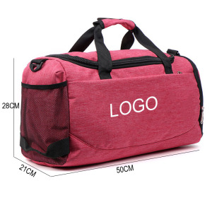 two tone 600D fashion high quality duffel travel bag