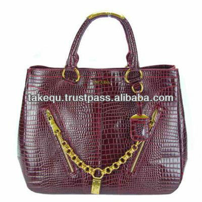 leather ladies tote bag