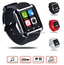 wholesale High Quality Sports Smart Watch U8 For iphone Men Wristwatches Led Touch Bluetooth Android Women Watches 2016 Casual