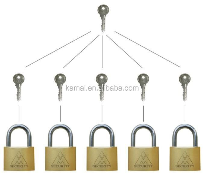 Padlock With Master Key System Brass Padlock
