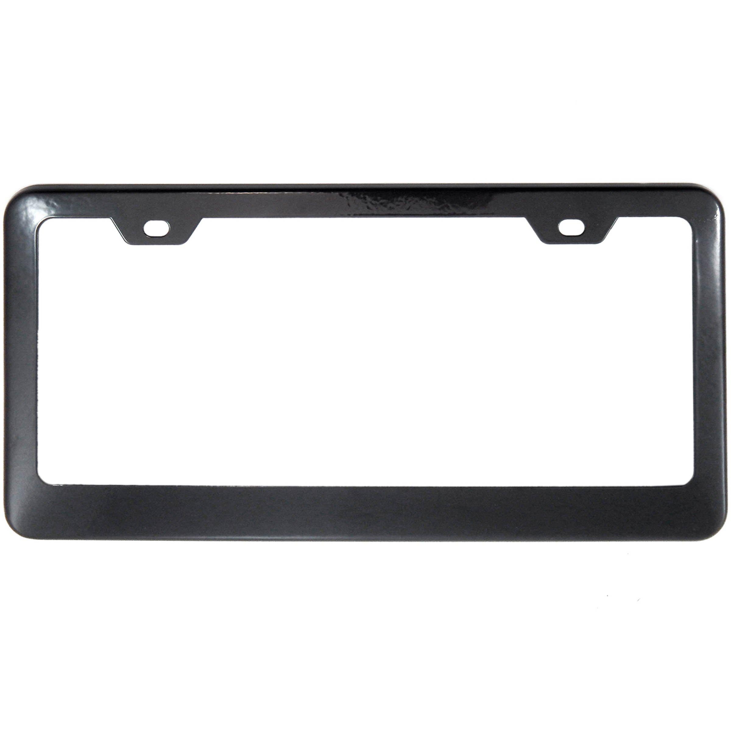 Black Stainless Steel License Plate Frame Tag Holder - Premium Quality