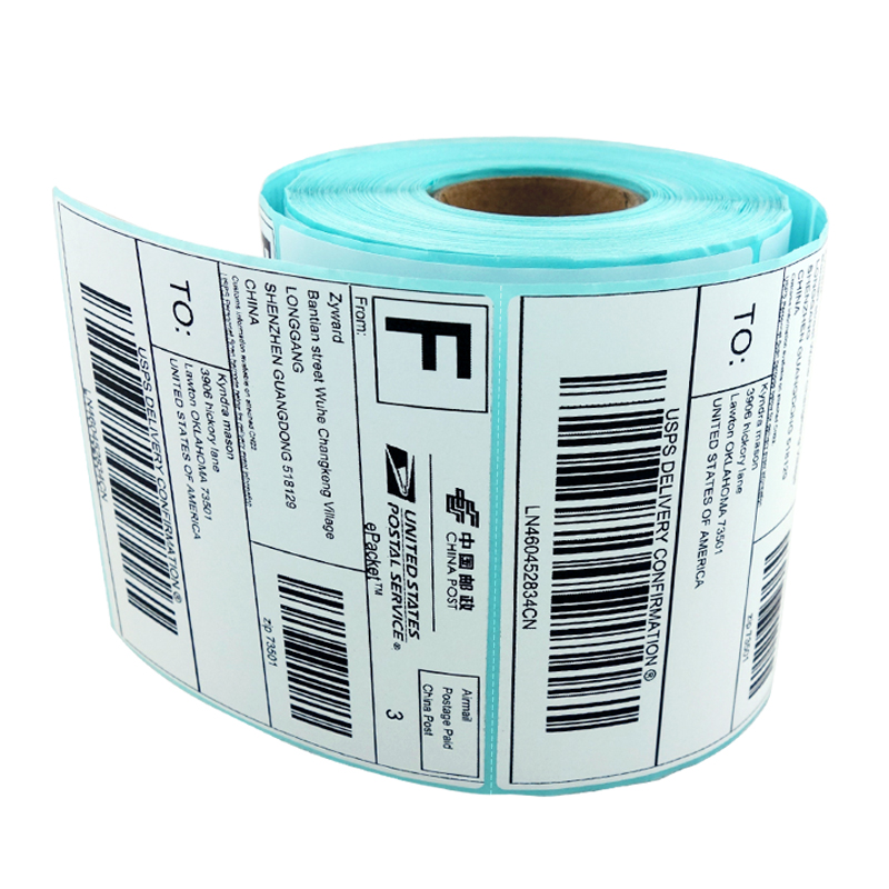 Materialrollen Blank White Thermoetiketten continuous label
