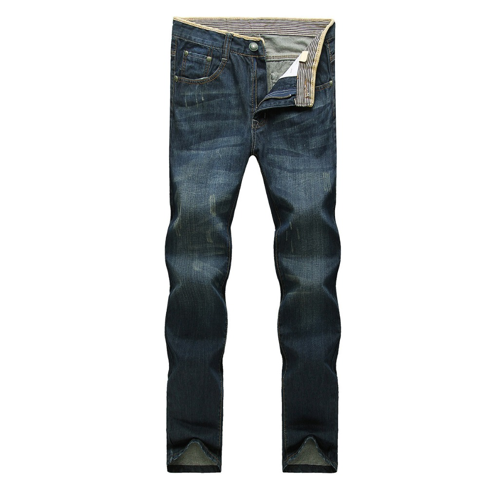 Wholesale Back Pocket Embroidery Republic Gasoline Denim Men Jeans