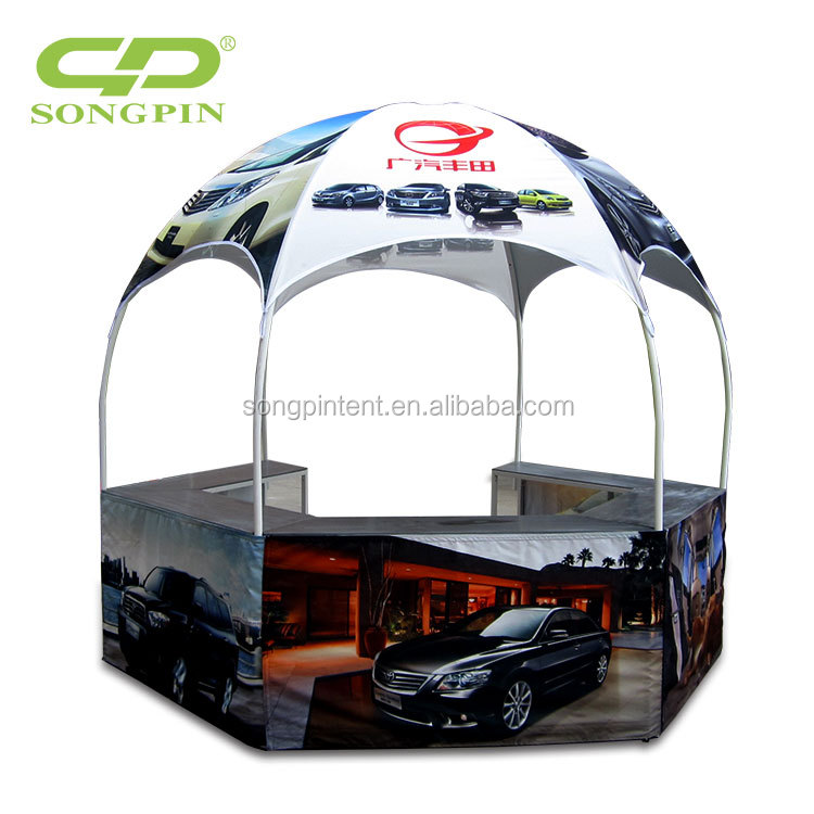 Factory price exhibition large round gazebo booth dome tent with custom printing logo