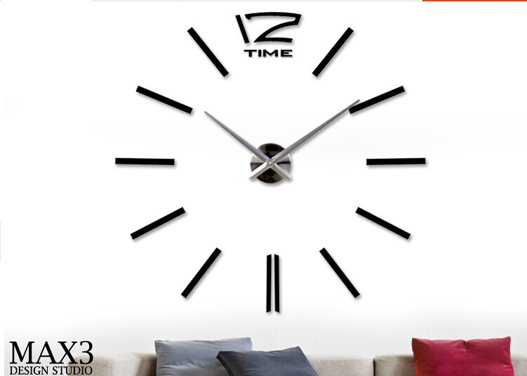 grandes relojes de pared decorativos pegatinas diy del reloj de pared diy pndulo relojes de pared