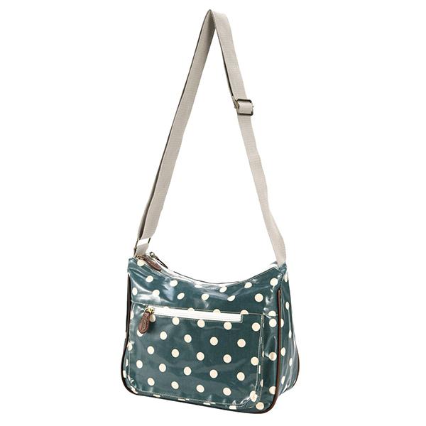Fashion Green Polka Dot Oilcloth Side Girls Shoulder Bags For ...