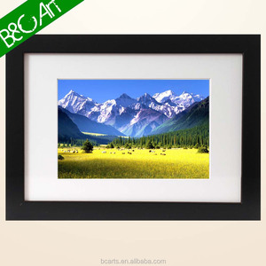Natural field and mountain wall decor beautiful scene modern landscape art painting