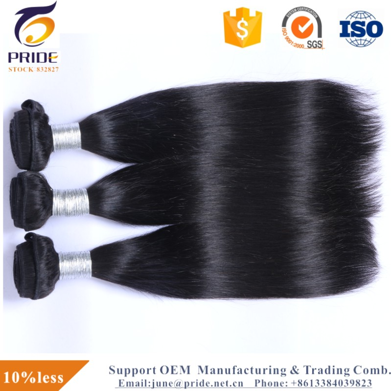 Wholesale Natural Black Straight Unprocessed Brazilian Human Hair Weave
