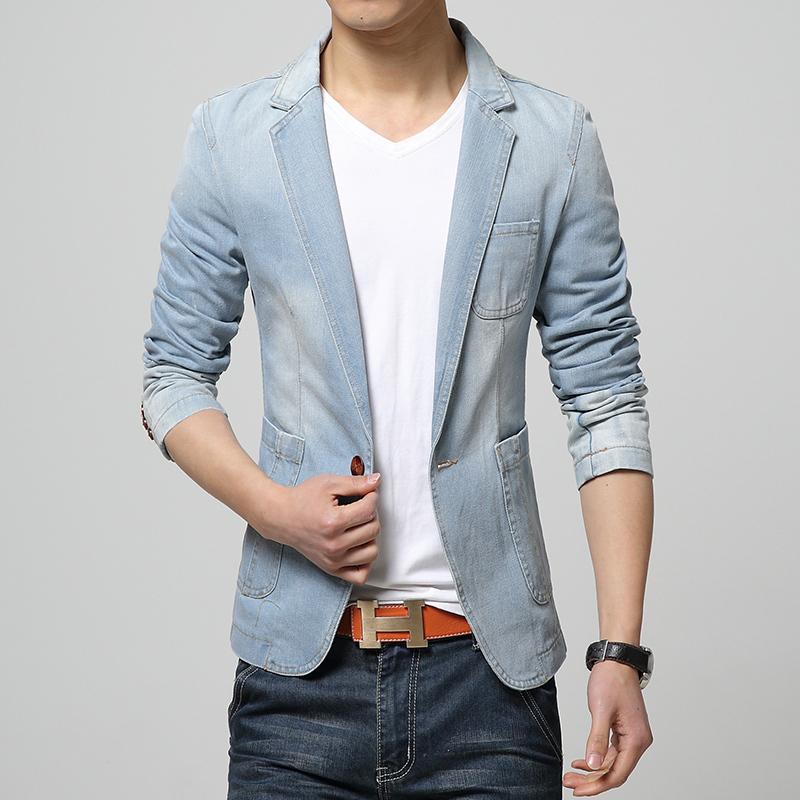 [W&M]Men's Jeans Blazer Spring New Fashion Mens Casual ...