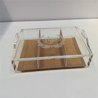 Custom transparent acrylic plexiglass humidor With Handle
