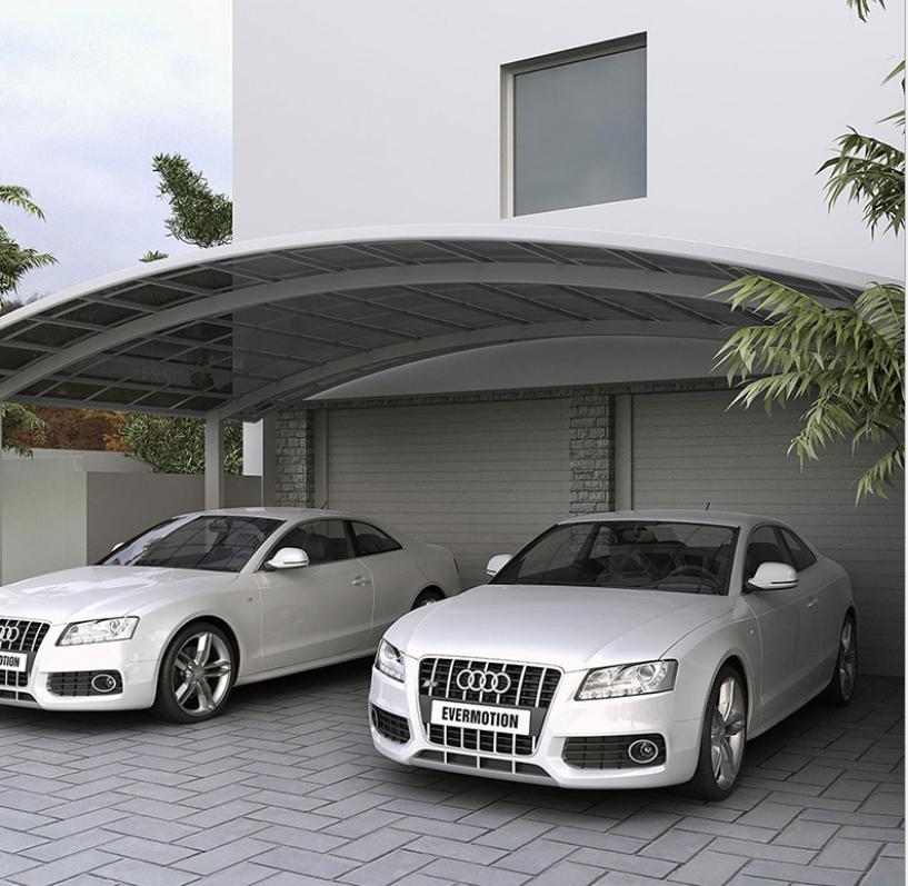 Metal Carport Waterproof Car Shelter Aluminium Polycarbonate Canopy Cover