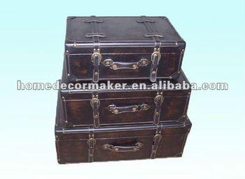 Leather Suitcase, Decorative Suitcase, Leather Decorative Storage Suitcase