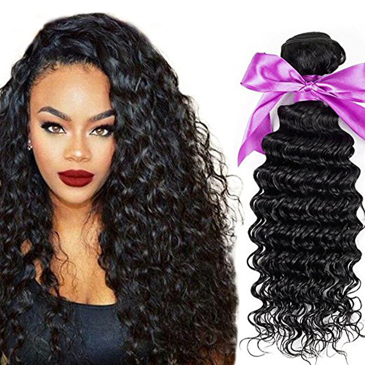 Glamorous Hair Extensions Loose Deep Wave Weave Hairstyles Black