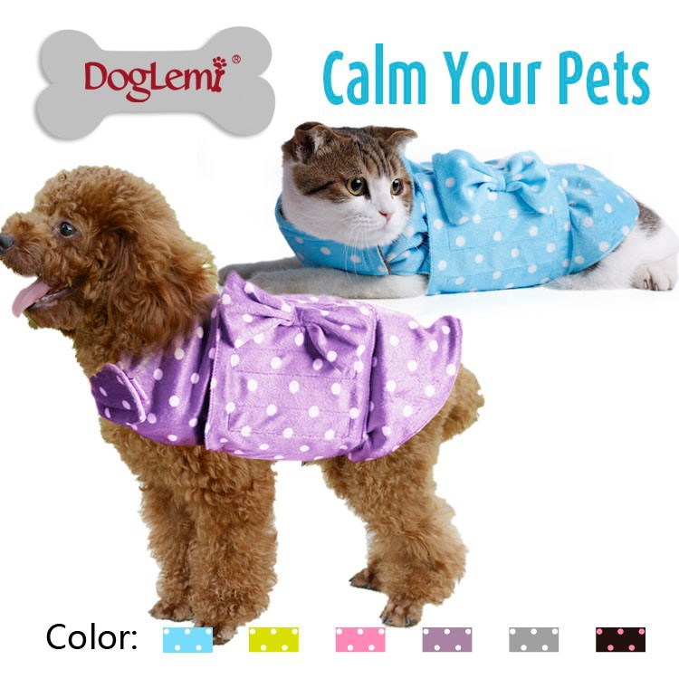 Trade Assurance Anti-Anxiety and Stress Relief Cute Pet Cat Clothes Anti-anxiety Calming Dog Coat