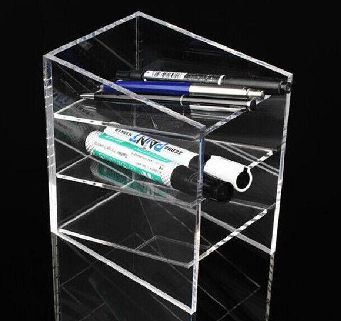 Ideal 3 Tier Clear Acrylic Pen Pencil Holder,Perspex Pen Storage Case  ZC87