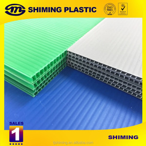 PP coroplast corrugated twin wall plastic sheets