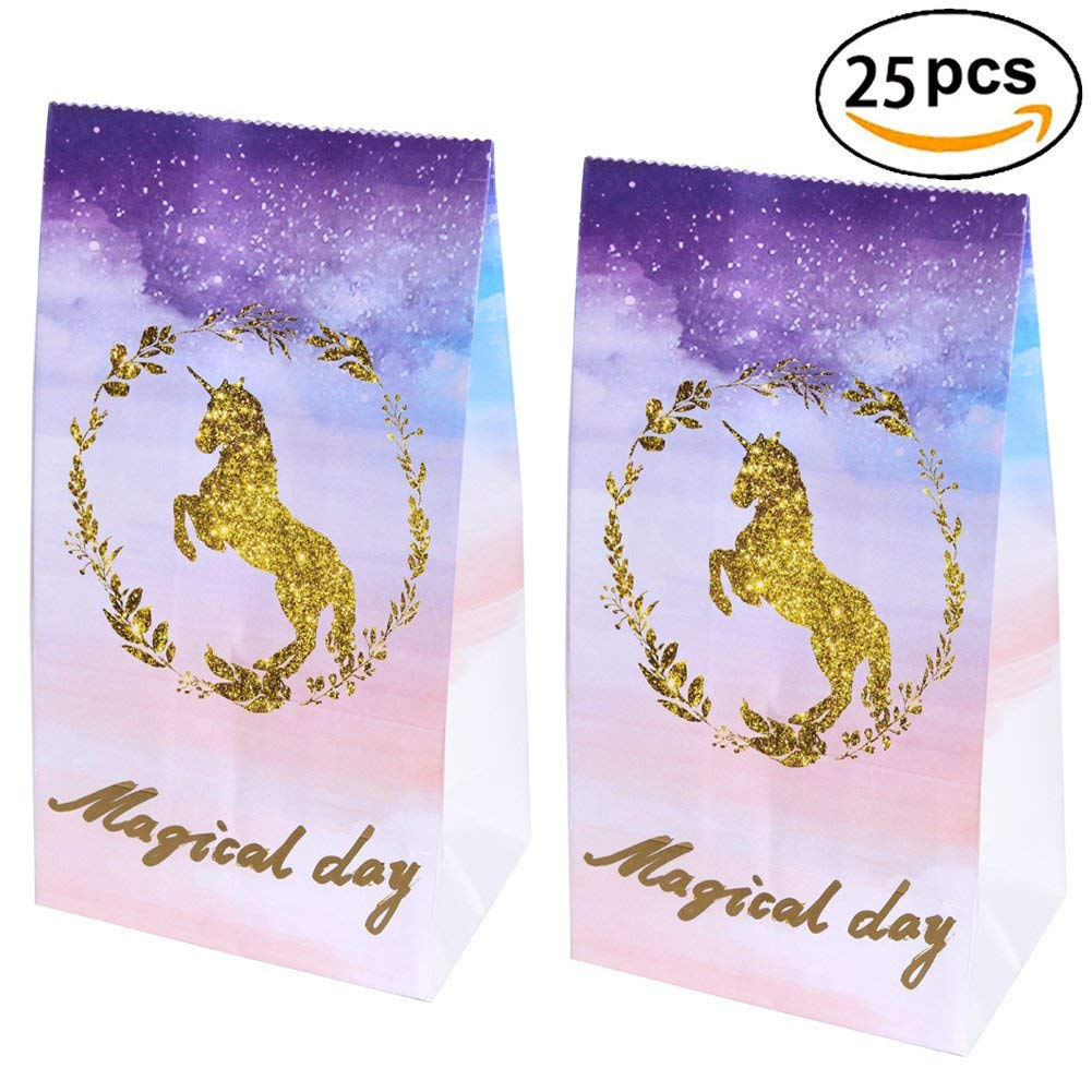 Buy Unicorn Party Favor BagsUnicorn Paper Gift Bags For Magical Birthday Supplies Decoration 25 Pack In Cheap Price On Malibaba