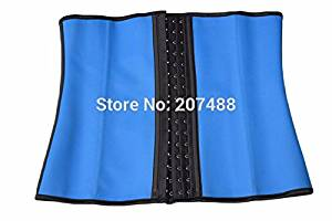 Imagine store Waist Trainer Corsets and bustiers latex cincher girdles Shapewear slimming belt body shaper rubber binder fitness corset sheath (XXXL, Blue)