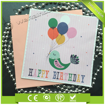 Promotional Custom Funny Simple Style Products Name Birthday Card