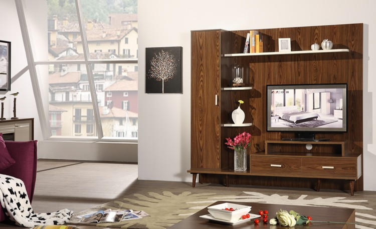 2016 hot sell wall wood showcase designs mdf wall mounted for Wall hanging showcase designs
