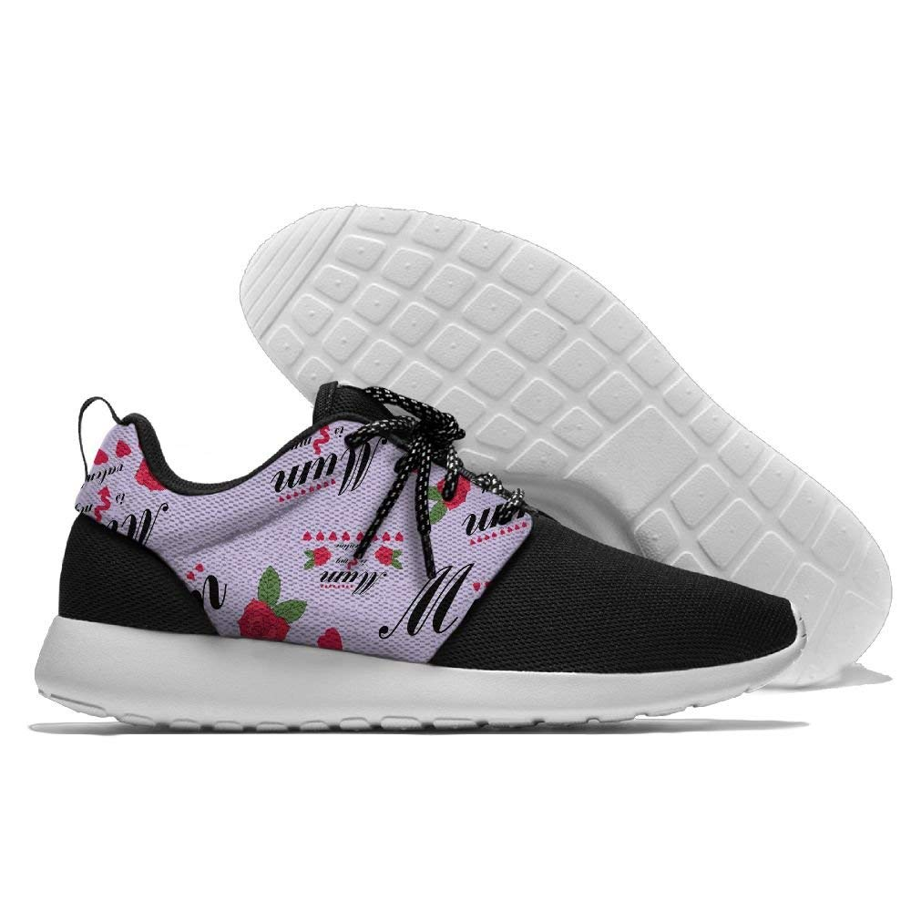 Mum Is My Valentine Mens Print Lightweight Sport Shoes Fashion Breathable Sneakers Running Shoes