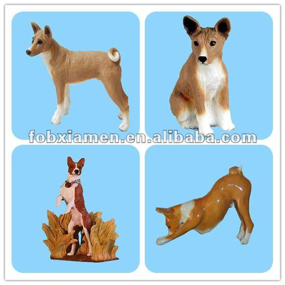 Polyresin garden decorations dog basenji statue