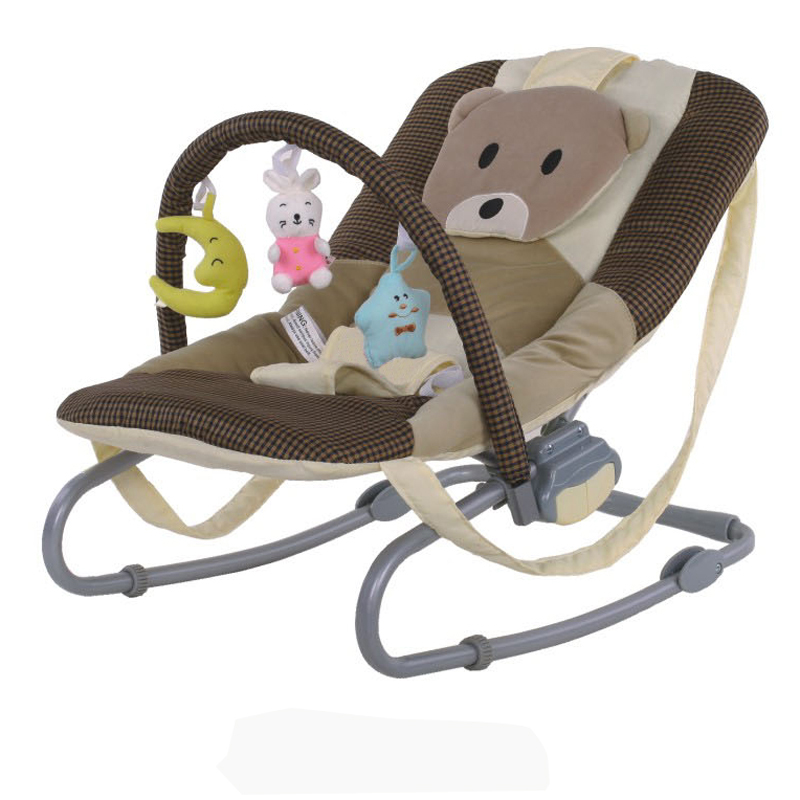 baby bouncer swing baby chair with cartoon design fabric
