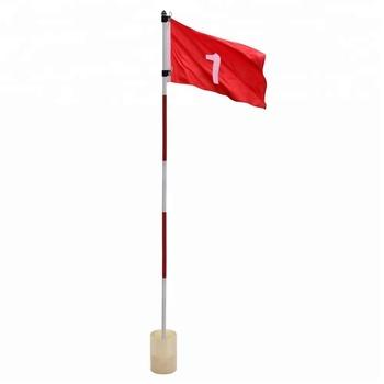 Mini Golf Flags Kingtop 뒤뜰 연습 Golf 홀 극 컵 Flag Stick 뒤뜰