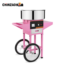 china hot sale cotton candy floss maker snack machine with cart