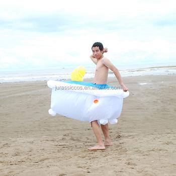Badewanne Kostüm lustige aufblasbare kostüm badewanne karneval anzug für erwachsene