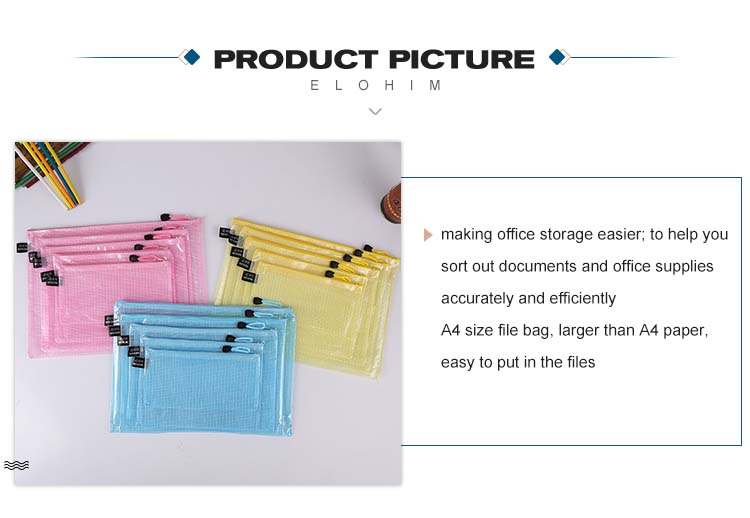Wholesale Office and School Supplies  expanding file bag zip file bag, custom clear file/