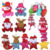 3D fabric indoor Christmas hanging drops on the christmas tree Ornaments Festival Gifts party Xmas tree hanging decoration