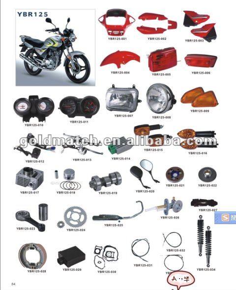 Motorcycle Parts In Delaware Mail: Profesional De Ybr125 Motocicleta De Repuesto Repuestos